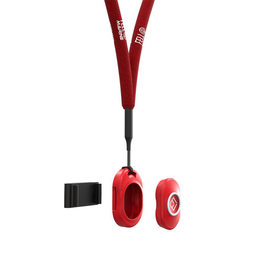 actisense Fell Marine One red TAG to hold the FOB, One black Clip-On and One red Floating Lanyard