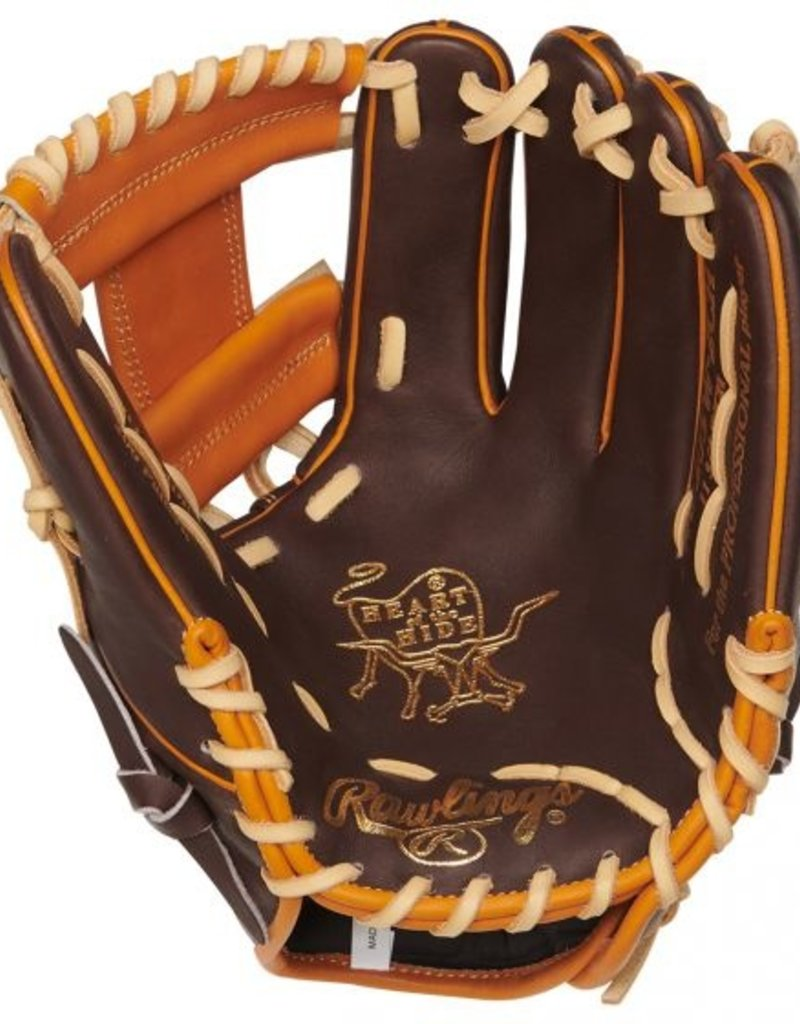 RAWLINGS Heart of the Hide PRO205W-2CH 11.75 in Pitcher/Infield Glove Chocolate 11 3/4