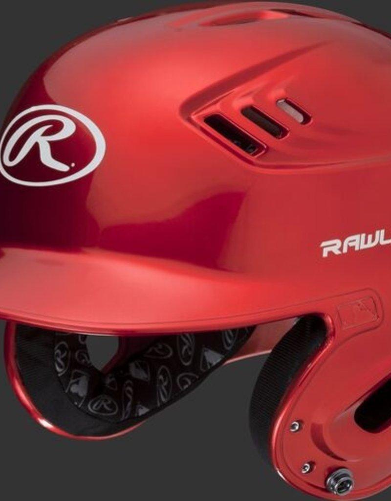 RAWLINGS Rawlings R16 Velo Helmet - 1-Tone Clearcoat - SR-Scarlet