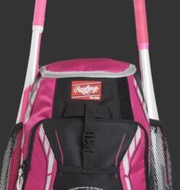 """RAWLINGS Rawlings R400 Youth Player's Backpack-Neon Pink-16""""x12""""x8"""