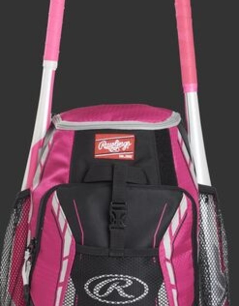 "RAWLINGS Rawlings R400 Youth Player's Backpack-Neon Pink-16""x12""x8"