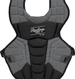 "RAWLINGS Rawlings Velo Chest Protector - NOCSAE - Adult - 17"" -Black/Graphite"