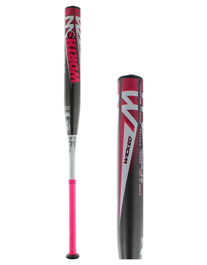 RAWLINGS 2019 Worth Wicked NYX 13.5 2PC USSSA Slowpitch Softball Bat WKNYXU