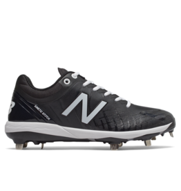 New Balance Mens L4040v4 Low Metal Baseball Cleats