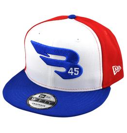 B45 INC 9FIFTY New Era Snapback Hat - Red/White/Blue