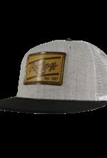 RAWLINGS Rawlings Leather Patch Snapback Hat - Black/Grey