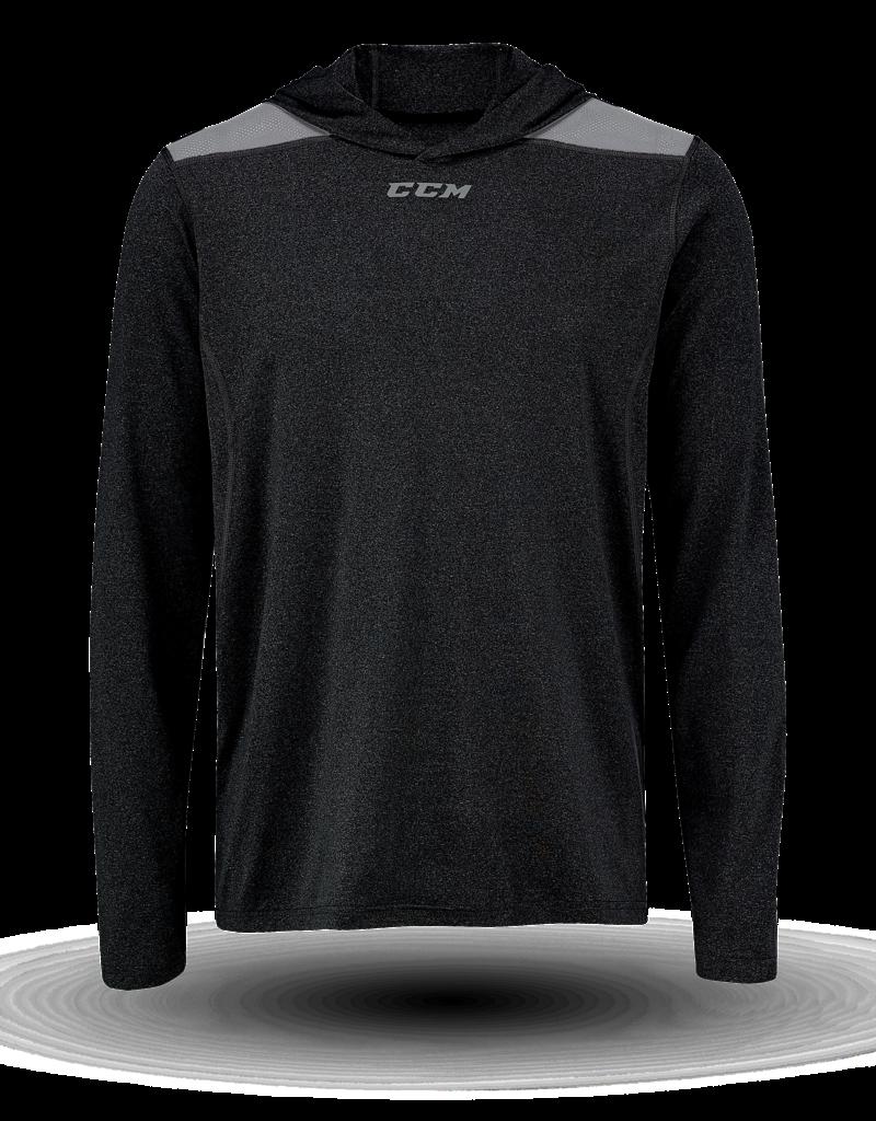 CCM CCM T7928 Premium Longsleeve Hooded Tech Tee