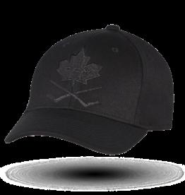CCM CCM BlackOut Leaf Structured Flex Cap Senior