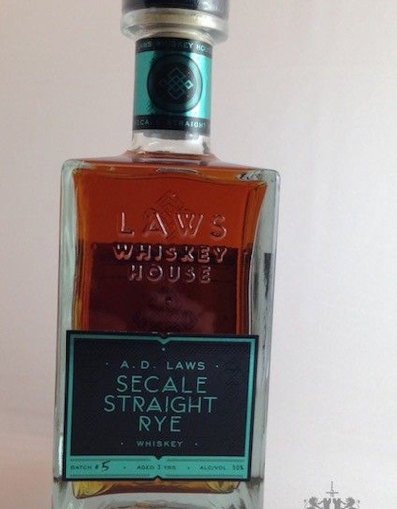 Laws Secale Straight Rye Whiskey 750mL