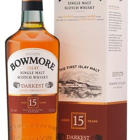 Bowmore Darkest Sherry Cask Finish 15Yr Scotch 750mL