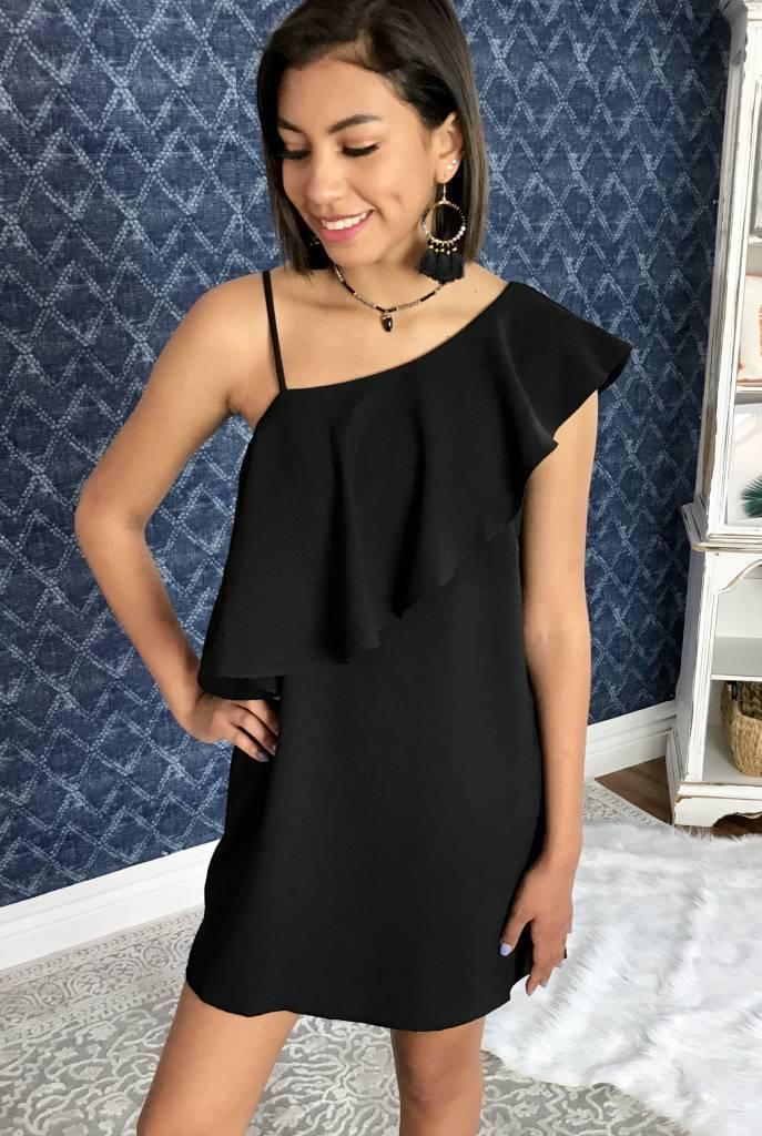 Stella Ruffle Shoulder Dress- More Colors