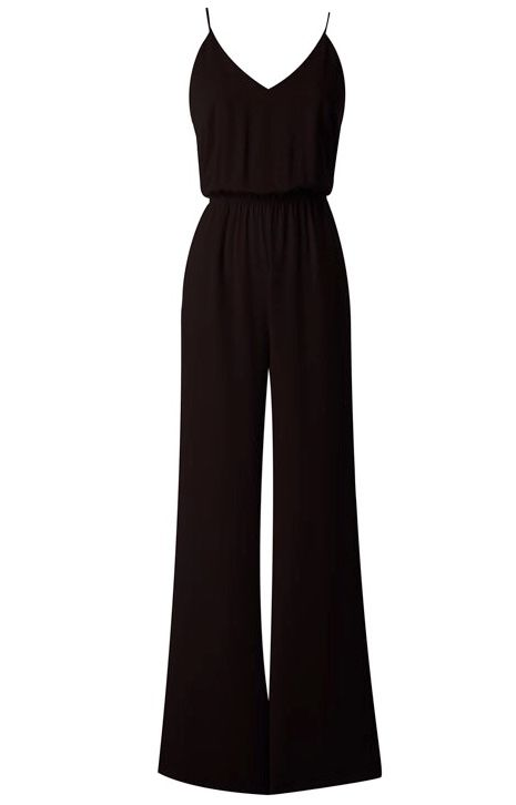 Black Jumpsuit with Back Cutout