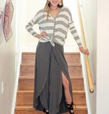 Charcoal Pants with Front Slit