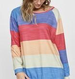 Neon Striped LS Sweatshirt
