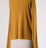 Long Sleeve Top with Front Tie- More Colors