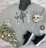 Heather Grey Cactus LS T-Shirt