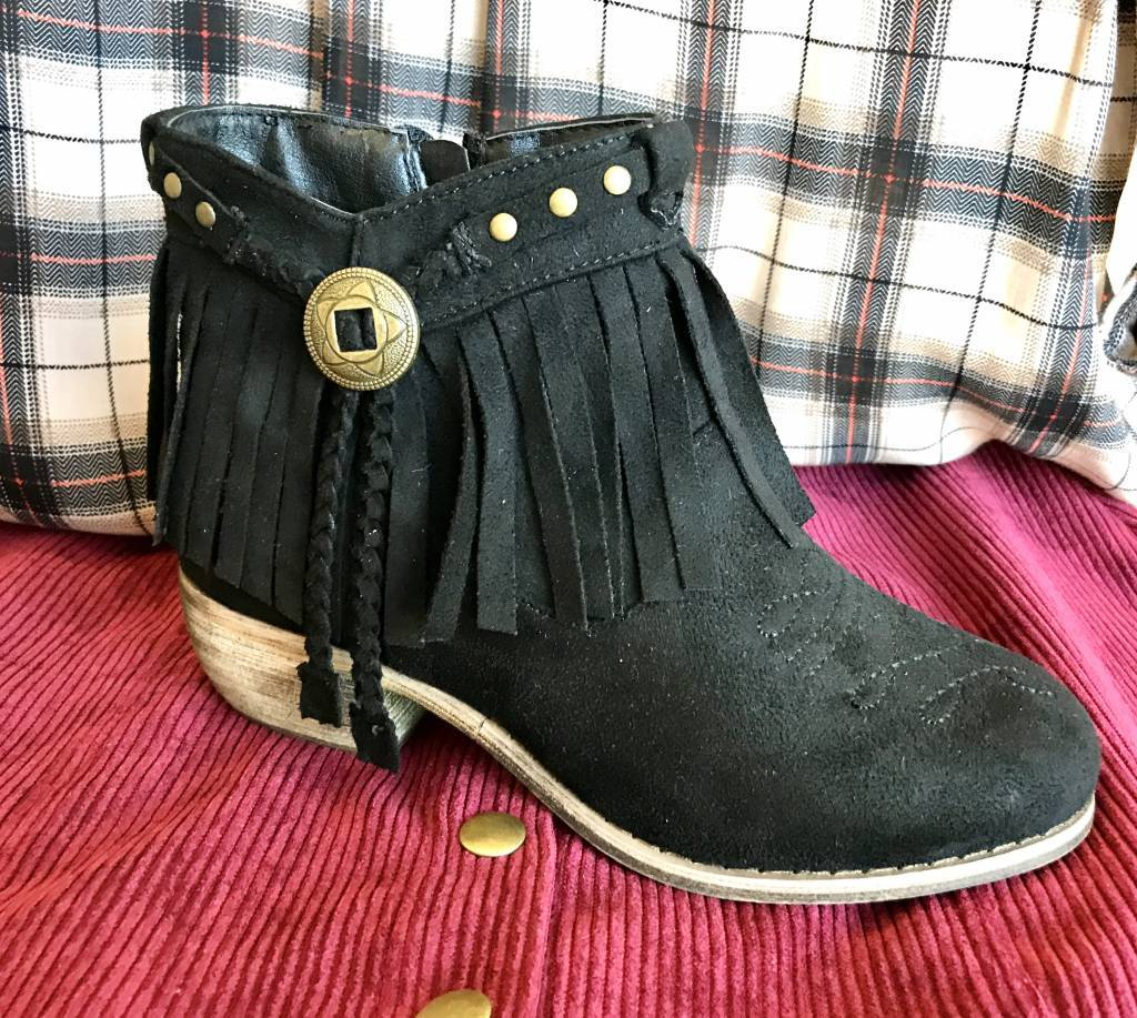Ankle Fringe Bootie- More Colors- SALE ITEM