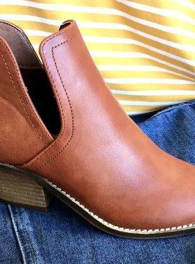 Low Heel Side Slit Bootie- More Colors