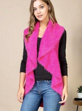 Hot Pink Sweater Vest