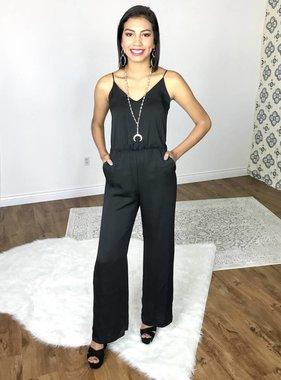 Black Jumpsuit with Back Cutout
