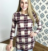 Checkered LS Top- MORE COLORS- SALE ITEM