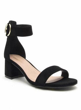 Simple Black Sandal with Block Heel