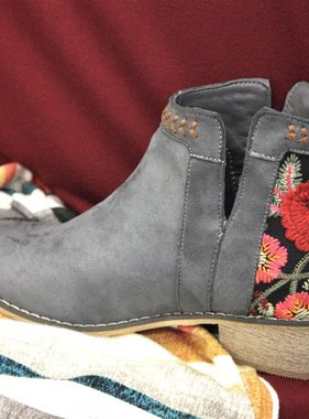 Short Embroidered Bootie- More Colors