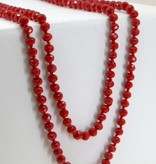 Long Crystal Beaded Necklace- More Colors