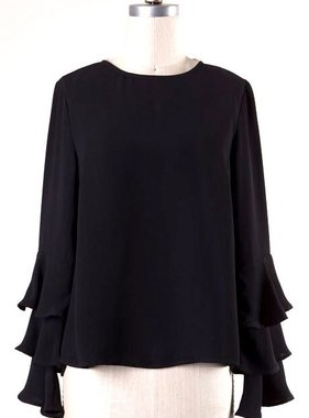 Tiered Long Sleeve Top- More Colors