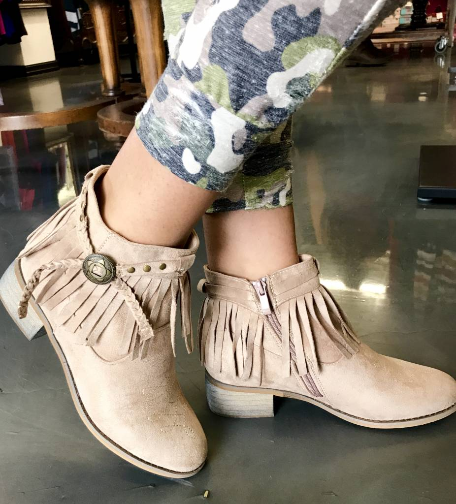 Ankle Fringe Bootie- More Colors