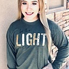 Heather Olive Be the Light LS Shirt