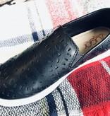 Black Cutout Detail Slip On Sneaker