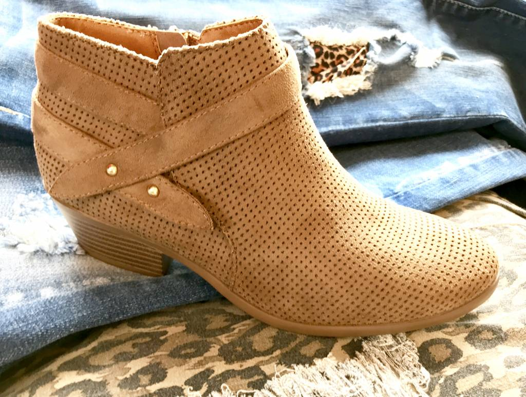 Short Nubuck Bootie- More Colors- SALE ITEM