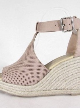 Peep-Toe Wedge Sandal