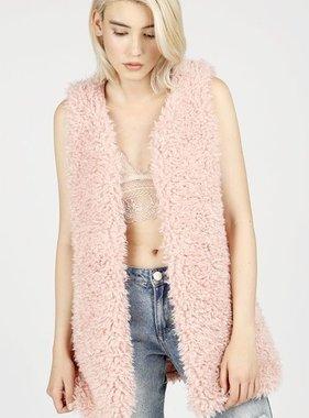 Dusty Pink Sherpa Vest