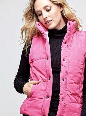 Pink Sherpa Reversible Vest- SALE ITEM