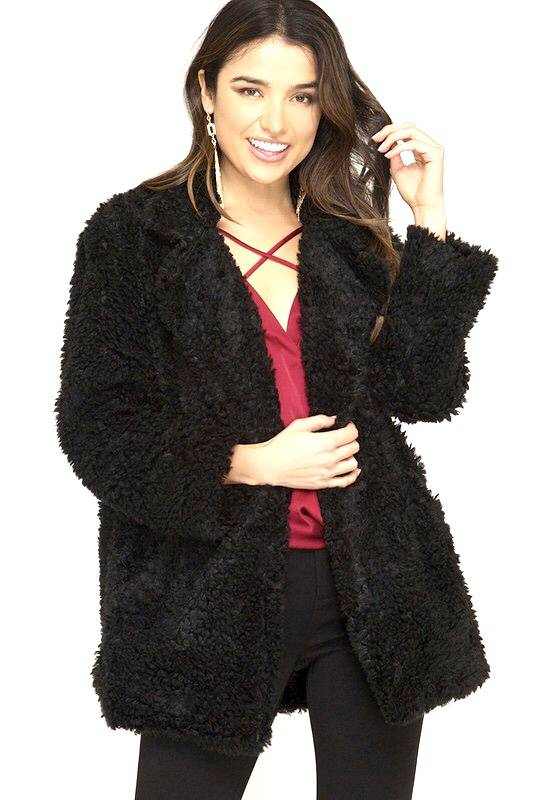 Black Sherpa Jacket