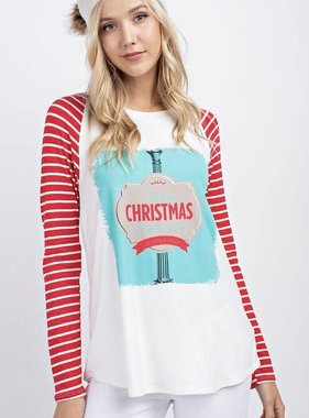 Merry Christmas and Happy New Year Top- SALE ITEM