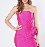Fuchsia Side Bow Strapless Dress