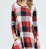Plaid Pocket Dress- SALE ITEM