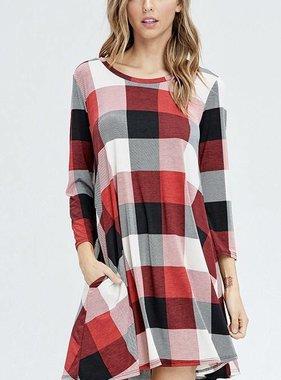 Plaid Pocket Dress