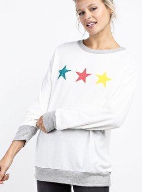 Ivory Star Sweater Top- SALE ITEM
