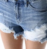 Kan Can Medium Wash Distressed Denim Shorts