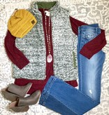 Reversible Quilted/Fleece Vest- More Colors- SALE ITEM