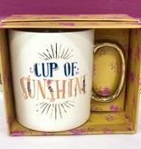 Cup Of Sunshine Gold Handled Mug