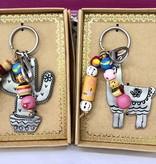 Sante Fe Llama Key Chain