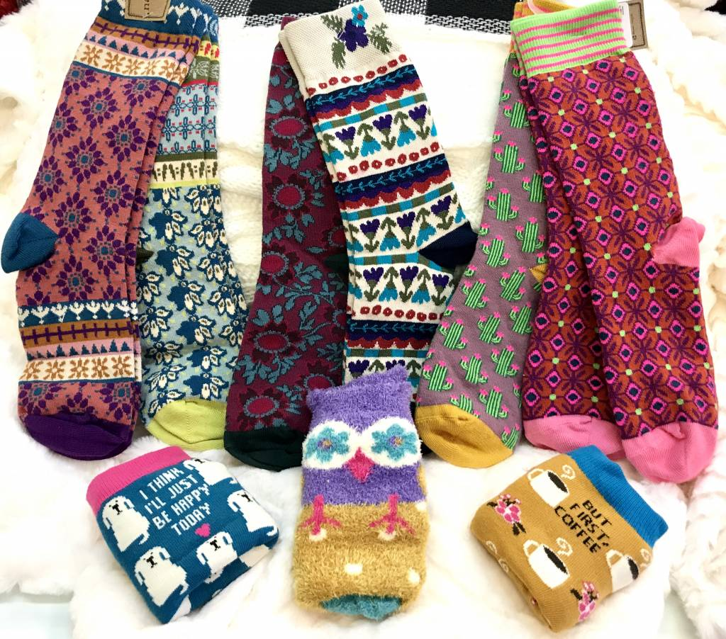 Owl Cozy Socks- SALE ITEM