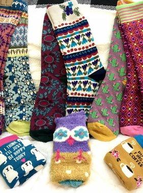 Magenta Cactus Two-Pair Sock Set