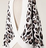 Ivory Leopard Sweater with Open Back