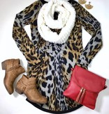 Brown Leopard Sweater Tunic Dress